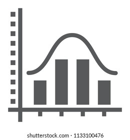 Average glyph icon, data and analytics, graph sign, vector graphics, a solid pattern on a white background, eps 10.