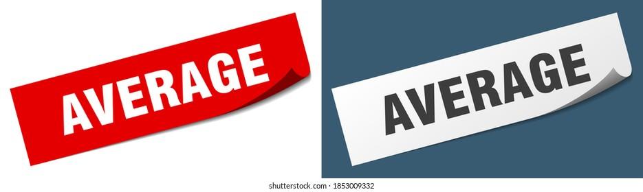 average paper peeler sign set. average sticker