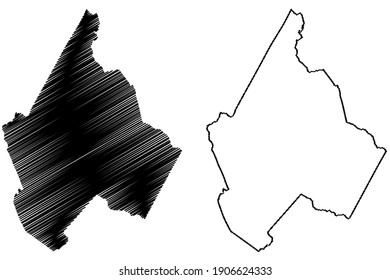 Avery County, North Carolina State (U.S. county, United States of America) map vector illustration, scribble sketch Avery map