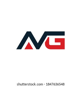 AVG Letter Initial Logo Design, Vector Template