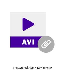 AVI File Attach icon