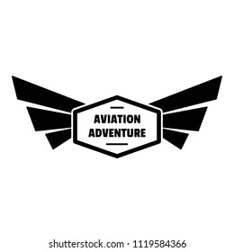 Avia adventure logo. Simple illustration of avia adventure vector logo for web design isolated on white background