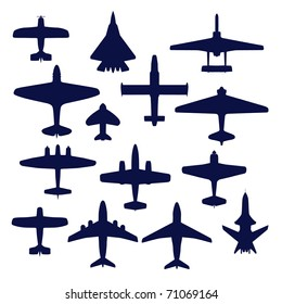 Avia set. Transport and navy airplanes and jets