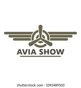 Avia show icon logo. Flat illustration of avia show vector icon logo for web design isolated on white background