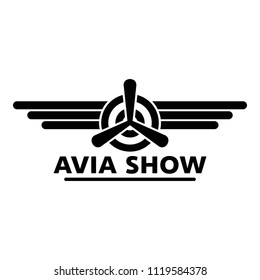Avia show logo. Simple illustration of avia show vector logo for web design isolated on white background
