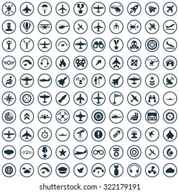 aviation 100 icons universal set for web and mobile