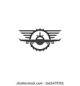 aviation academy vector illustration design template