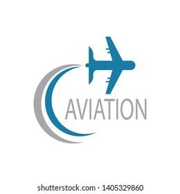 Aviation airplane icon illustration logo vector