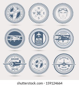 Aviation badges. EPS10.