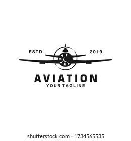 Aviation Logo Design Template Idea