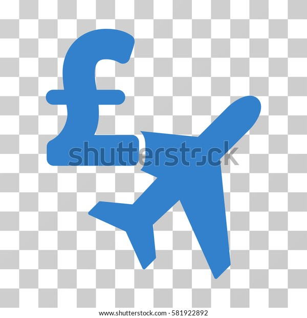 Aviation Pound Business vector pictograph. Illustration style is a flat iconic cobalt symbol on a transparent background.