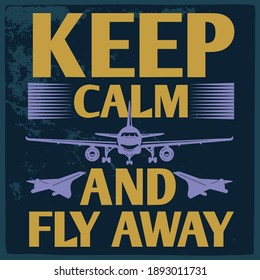 Aviation t shirt design-  Vector print design for t-shirt or apparel. airplane graphic for fashion or printing.