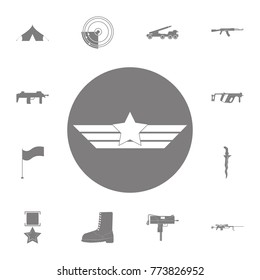 Aviation wings icon. Set of military elements icon. Quality graphic design collection army icons for websites, web design, mobile app on white background