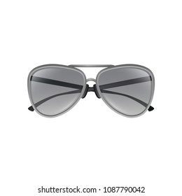 34a30b15cf70 Aviator sunglasses with gray tinted lenses