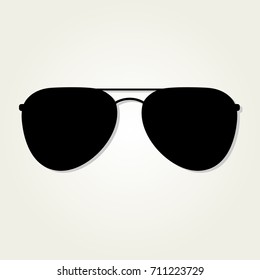Aviator Sunglasses icon isolated on white background.