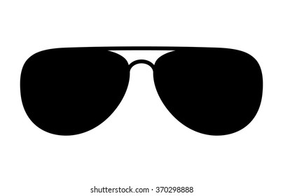 Aviator sunglasses / shades protective eyewear flat icon for apps and websites
