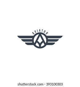 aviator symbol - logotype theme