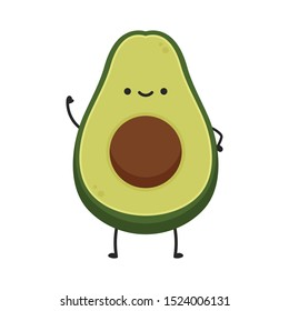 Avocado character design. avocado on white background.