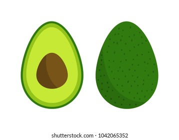 Avocado fruit icon inside. Vector illustration