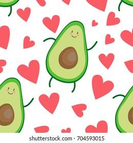 avocado heart pattern
