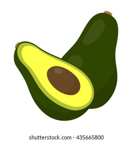 Avocado icon cartoon. Singe fruit icon from the food collection.