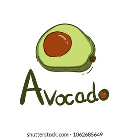 Avocado Logo  Hand Drawn
