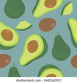 Avocado pattern, perfect for textile and graphic designs.