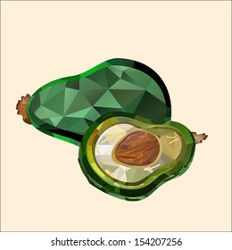 avocado polygon
