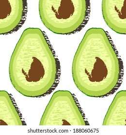 avocado vector pattern