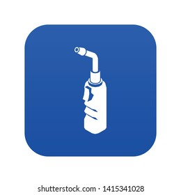 Avto welding torch icon blue vector isolated on white background