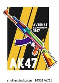 Avtomat Kalashnikova 1947 - AK47 Design Wpap Art