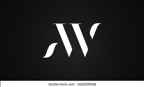 AW Letter Logo Design Template Vector