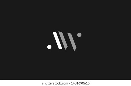 AW, WA Letter Logo Design with Creative Modern Trendy Typography