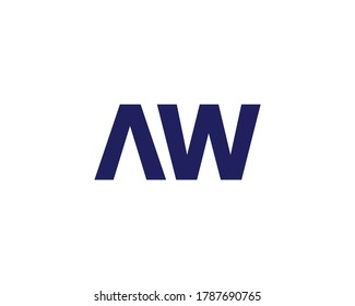 AW WA LETTER LOGO DESIGN VECTOR TEMPLATE. AW WA Minimalist, Creative, Unique, Simple, Flat, Modern Logo Design.