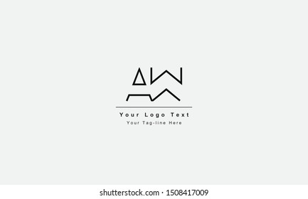 AW or WA letter logo. Unique attractive creative modern initial AW WA A W initial based letter icon logo