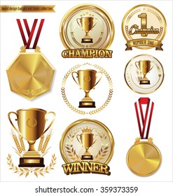 Award design badges and labels collection