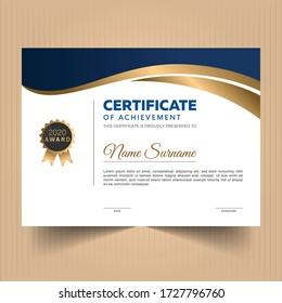 Award diploma certificate of appreciation design template