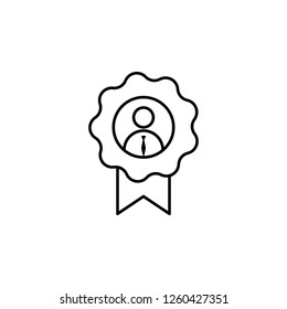 Award, employee, worker icon on white background. Can be used for web, logo, mobile app, UI, UX on white background