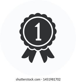 Award icon, one flat symbol vector design. Great for mobile app, web design, print materials, etc.