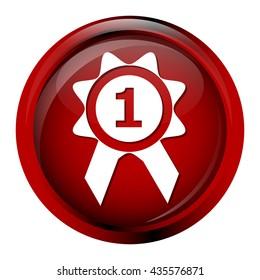 Award icon, sign button vector illustration