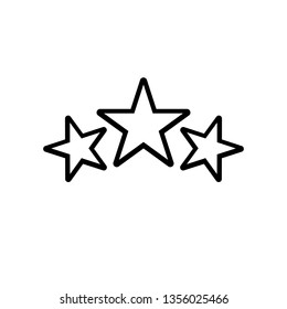 Award icon, stars logo in line style. Winner symbol isolated on white background. Simple abstract awards icon in black. Vector illustration for graphic design, Web, UI, app