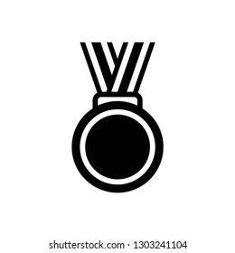 award icon symbol vector. on white background