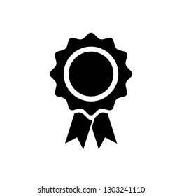 award icon symbol vector. on white background