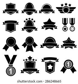 Award icons.