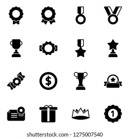 Award icons pack. Isolated award symbols collection. Graphic icons element