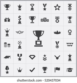 award icons universal set for web and mobile