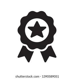 Award medal badge icon in trendy flat style design. Vector graphic illustration. Badge symbol for website design, logo, app, and ui. Vector file. EPS 10.