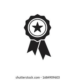 award medal icon rosette icon vector design