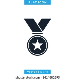 Award Medal Icon Vector Logo Design Template