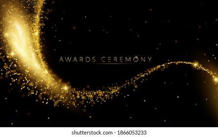 Award nomination ceremony luxury background with golden glitter sparkles - Shutterstock ID 1866053233
